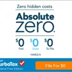 Free Tax Filing with TurboTax 2016 Absolute Zero